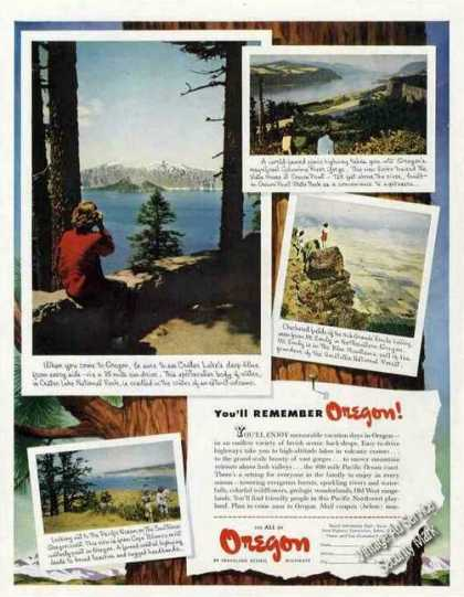 Crater Lake/columbia River Gorge Oregon Photos (1949)