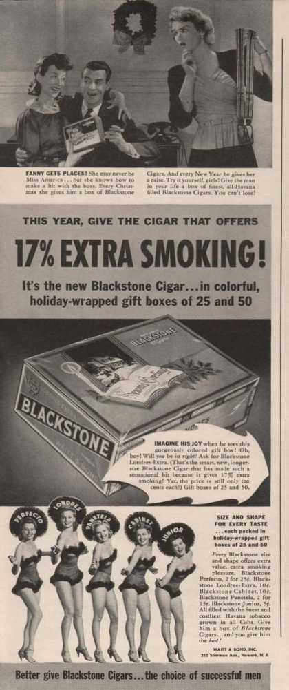 Extra Smoking Blackstone Cigar (1941)