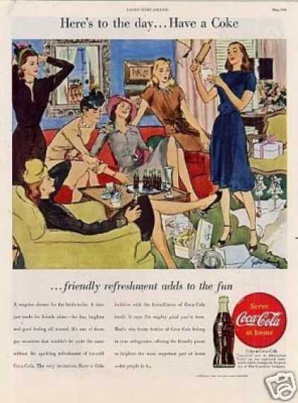 "Coca-cola Ad ""Here's To the Day... (1946)"