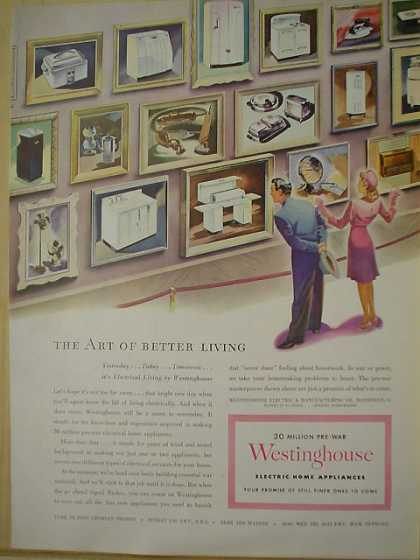 Westinghouse Art of better living AND Airstep shoes (1944)