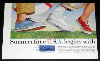 Old , U.s. Keds Shoes, Tennis (1959)