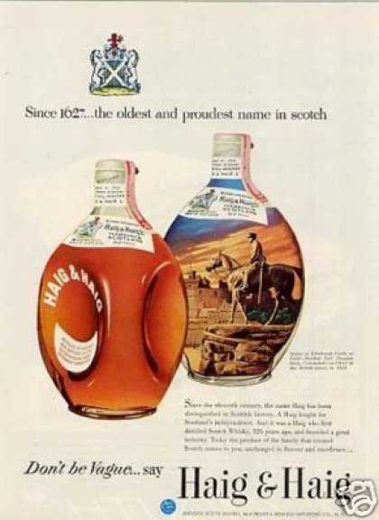 Haig & Haig Scotch Whisky (1953)
