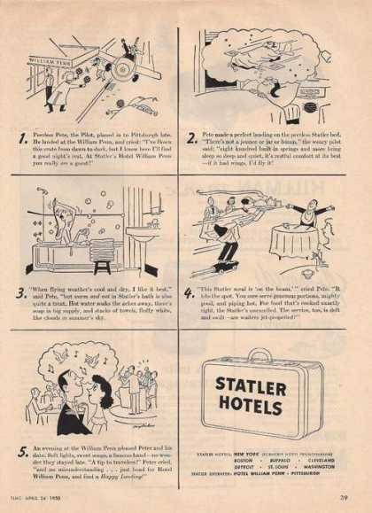 Statler Hotels Cartoon (1950)