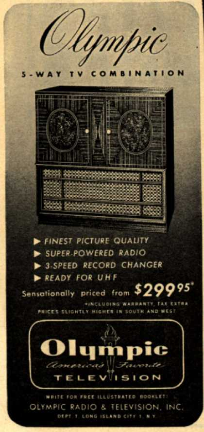 Olympic Radio & Television's 5-Way TV Combination – Olympic 5-Way TV Combination (1952)