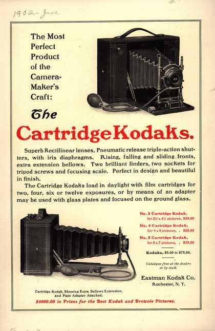 Kodak – The Cartridge Kodaks. (1902)