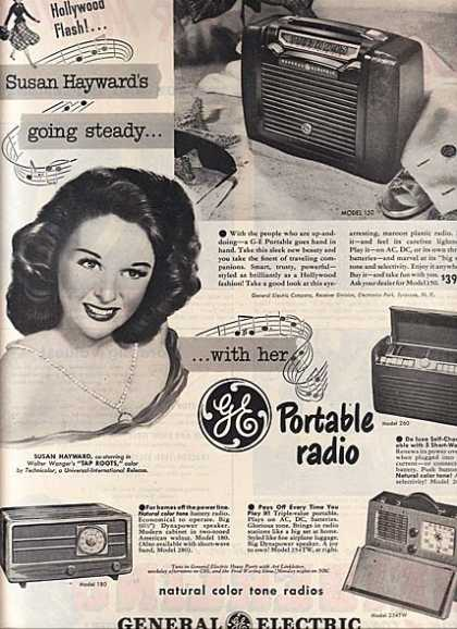General Electric Portable Radios – Susan Hayward (1948)