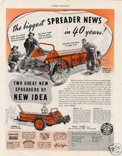 New Idea Spreader Ad Model 10 (1940)