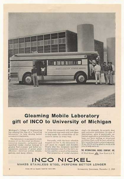 University of Michigan Automotive Lab Bus Inco (1959)
