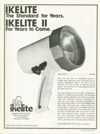 Ikelite Ii Underwater Diving Light Ad T (1978)