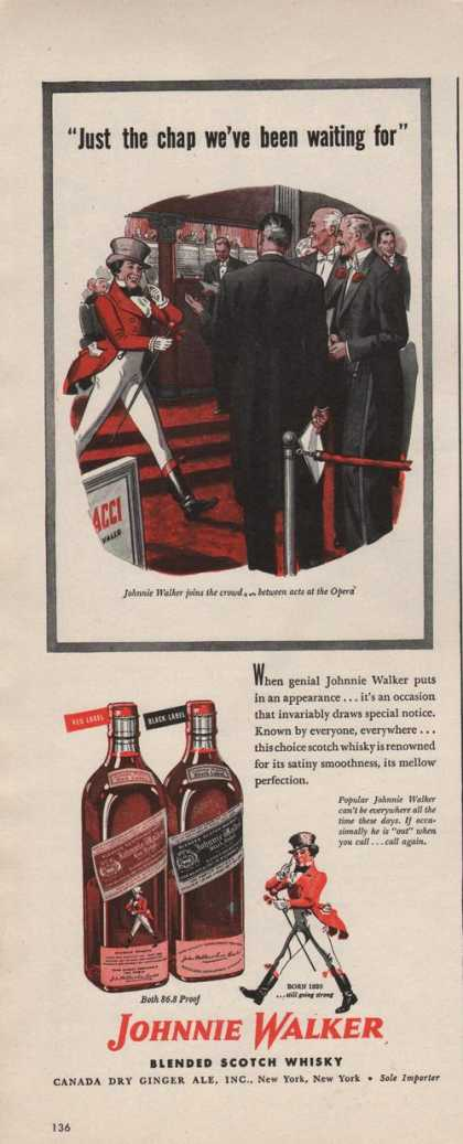 Johnnie Walker Blended Scotch Whiskey (1942)