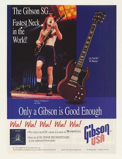 AC/DC Angus Young Gibson Les Paul SG Guitar (1996)