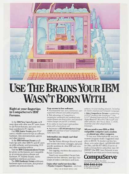 Use Brains IBM Wasn't Born With CompuServe (1986)