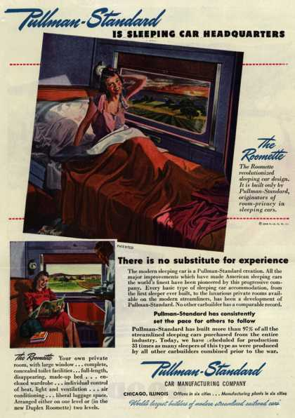 Pullman-Standard Car Manufacturing Company's The Roomette – Pullman-Standard Is Sleeping Car Headquarters (1946)