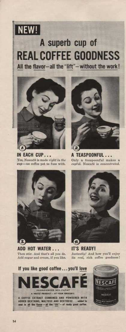 Nescafe Real Coffee Goodness (1941)