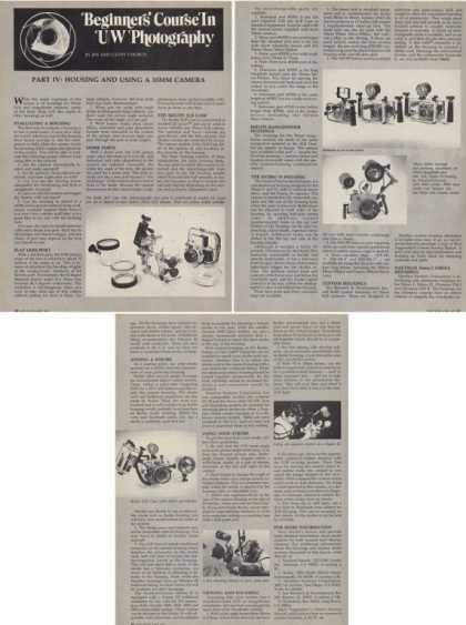 Underwater Photography Part Iv Housing Article T (1978)