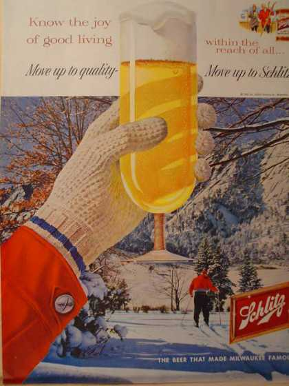 Schlitz Beer Winter Ski Theme (1959)