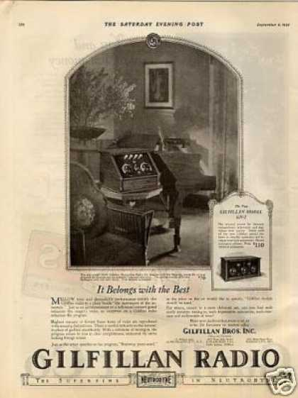 Gilfillan Radio Ad Model Gn-4 (1925)
