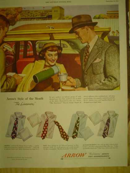 Arrow Mens Dress Shirts. The linesman (1949)