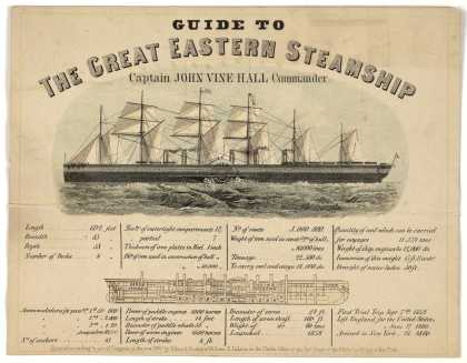 Guide to the Great Eastern Steamship. Captain John Vine Hall commander. [n. p.] [c. 1860]. (1860)