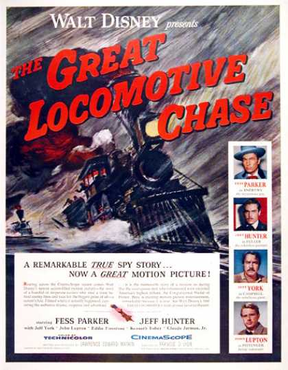 """The Great Locomotive Chase"" (1956)"