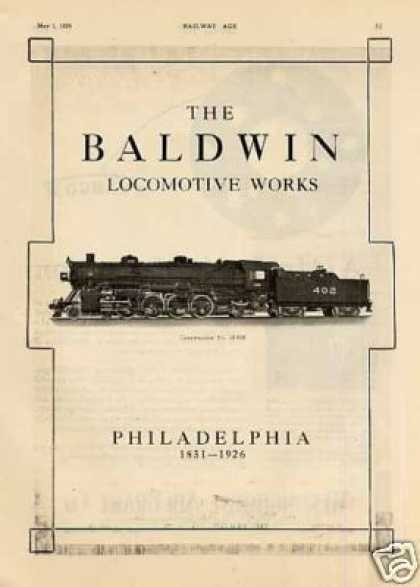 Baldwin Locomotive Ad Louisville & Nashville 4-8-2 (1926)