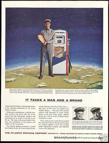 Atlantic Imperial Gas Pump Dealer Robert Cole (1957)