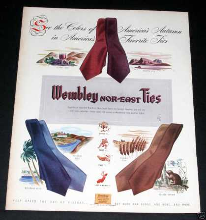 Old , Wembley Nor-east Ties Color (1944)