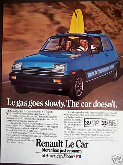 Renault Le Car With Sunroof Surfboard Photo (1981)