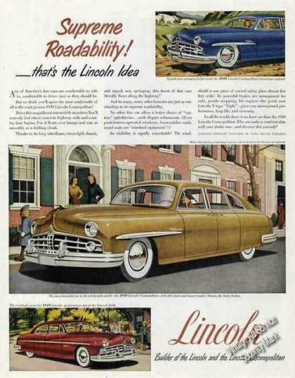 "Lincoln ""Supreme Roadability"" Collectible (1949)"