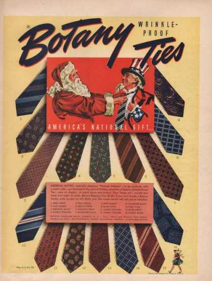 Botany Wrinkle Proof Ties (1941)