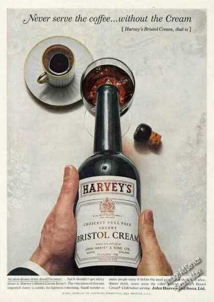 "Harvey's Bristol Cream ""Never Serve the Coffee"" (1963)"