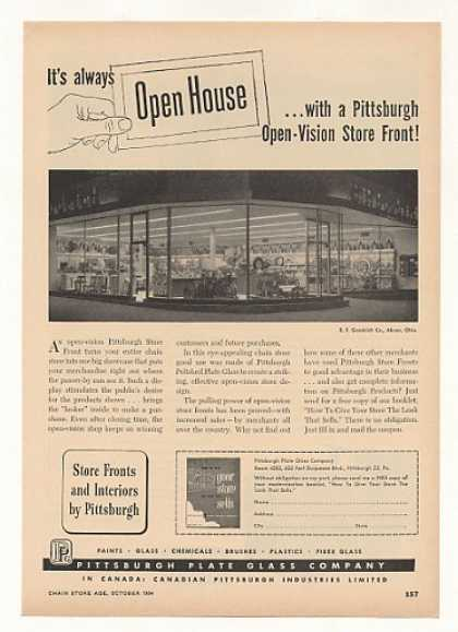 B F Goodrich Store Akron Ohio PPG Glass (1954)