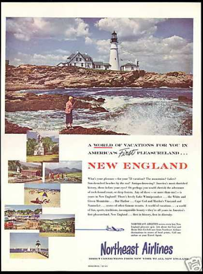 New England Lighthouse Northeast Airlines (1953)