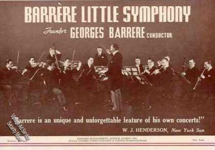 Barrere Little Symphony Photo Booking (1934)