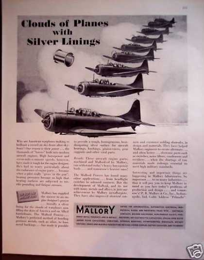Mallory Mallosil Process for Military Planes (1942)