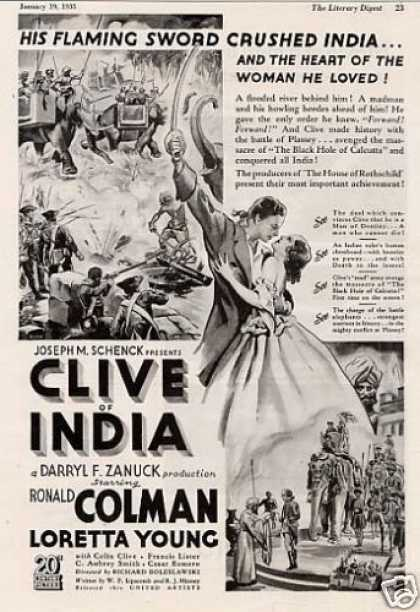 "Movie Ad ""Clive of India"" Ronald Colman (1935)"