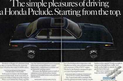 "Honda Prelude ""Starting From the Top"" (1981)"