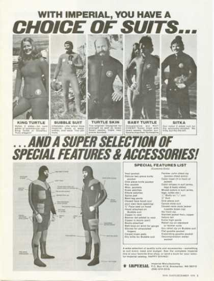 Imperial Diving Suit King Baby Bubble Sitka (1976)