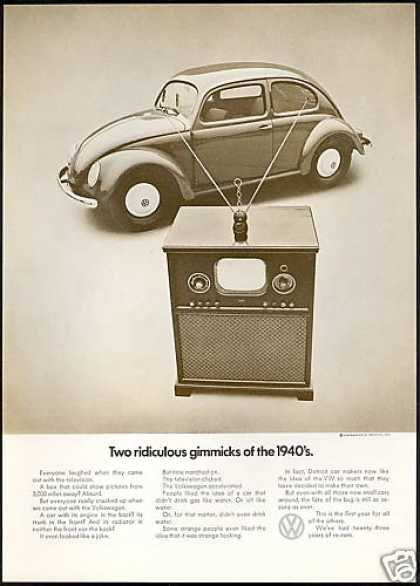 VW Volkswagen 1940 Gimmick TV Bug Photo (1971)