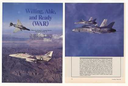 Naval Air Reserve Aircraft 15-Page Photo Article (1984)