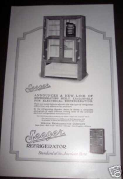Original Seeger Electric Refrigerator (1926)