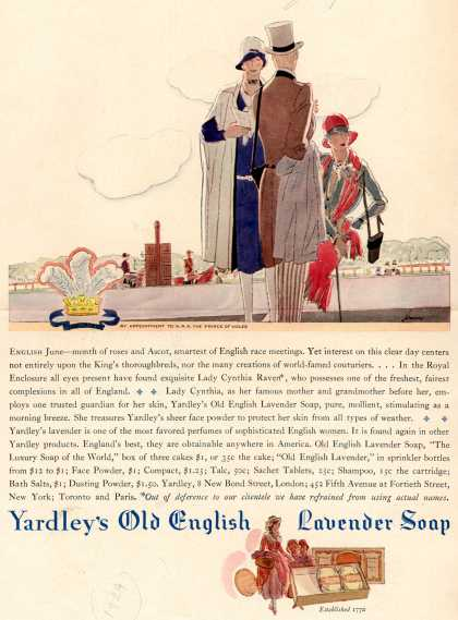 Yardley & Co., Ltd.'s Old English Lavender Soap – Yardley's Old English Lavender Soap (1929)