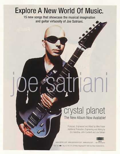 Joe Satriani Crystal Planet Epic Records Photo (1998)