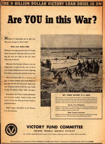 Victory Fund Committee's Victory Bonds – Are You in this War? (1942)