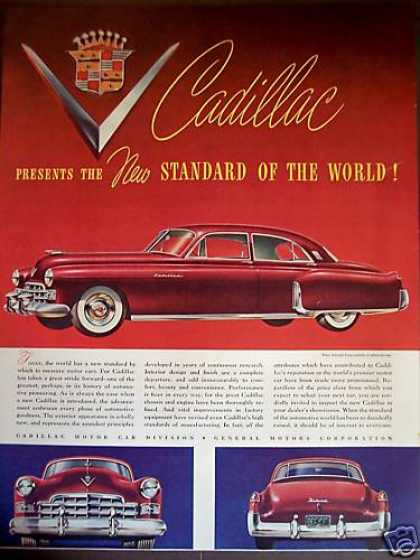 Cadillac Sedan Red Classic Car (1948)