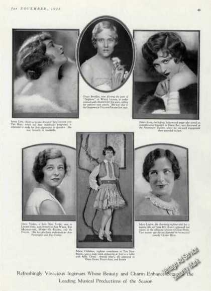 Theater Ingenues of Photos Print Feature (1928)