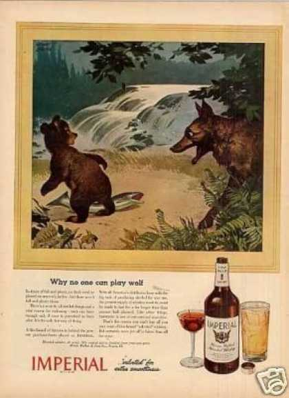 "Imperial Whiskey Ad ""Why No One Can Play Wolf... (1944)"
