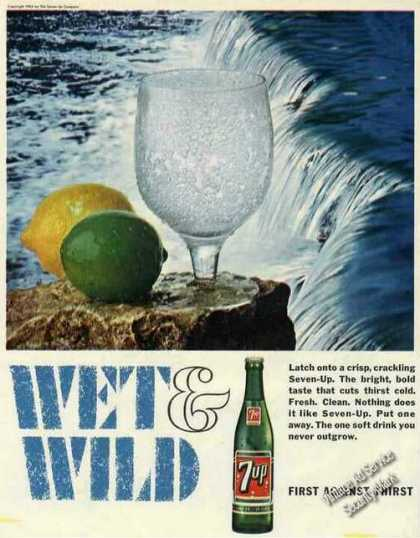 "7up ""Wet & Wild"" Waterfall Collectible (1966)"