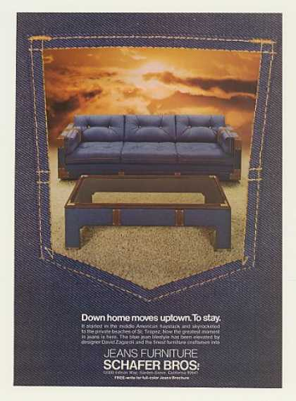 Blue Jean Jeans Furniture Schafer Bros (1974)