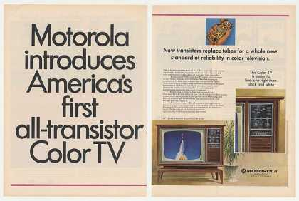 Motorola First All-Transistor Color TV (1967)